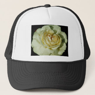 Raindrops on Champagne White Rose floral Trucker Hat