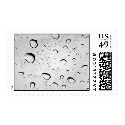 Raindrops on Glass Stamp