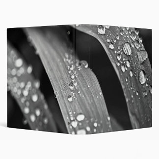 Raindrops on grass 3 ring binders