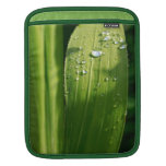 Raindrops on green leaf sleeves for iPads