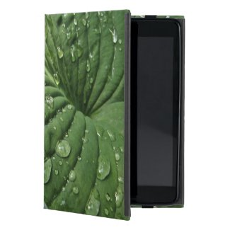Raindrops on Hosta Leaf iPad Mini Case