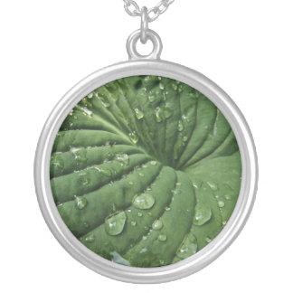 Raindrops on Hosta Leaf Necklace