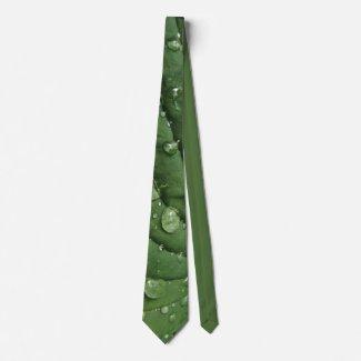 Raindrops on Hosta Leaf Necktie