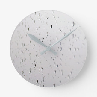 raindrops on ice-cream round clock