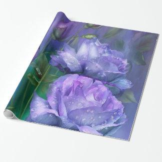 Raindrops On Lavender Roses Art Gift Wrap