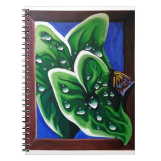Raindrops on Leaves Spiral Notebook