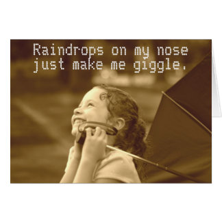 Raindrops on my nose card