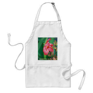 Raindrops On Pink Flower Apron