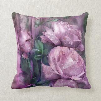 Raindrops On Pink Roses Art Decorator Pillow