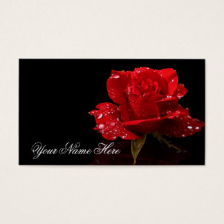 RAINDROPS ON ROSE #2 BUSINESS CARD