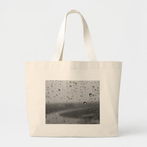 Raindrops On Silver Background Jumbo Tote Bag