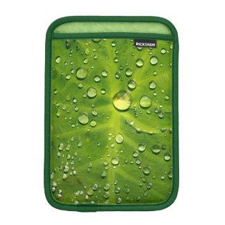 Raindrops on taro leaf iPad mini sleeves
