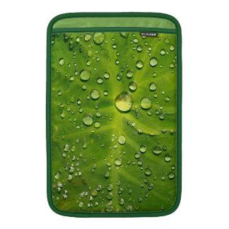 Raindrops on taro leaf MacBook sleeves