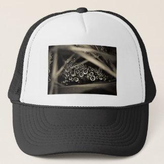 raindrops on web trucker hat