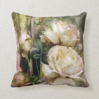 Raindrops On White Roses Art Decorator Pillow