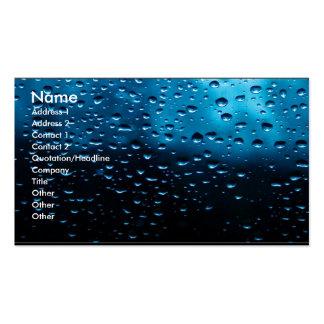 Raindrops on Window Business Card