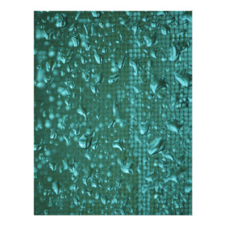 Raindrops on Window enhanced to Green Letterhead