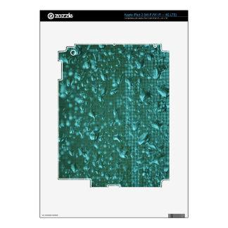 Raindrops on Window enhanced to Green iPad 3 Skin