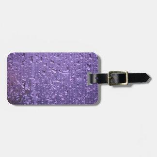 Raindrops on Window in Purple Bag Tag