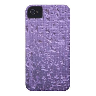 Raindrops on Window in Purple iPhone 4 Case-Mate Case