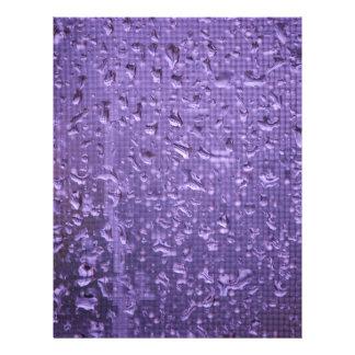 Raindrops on Window in Purple Letterhead