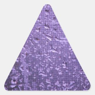 Raindrops on Window in Purple Triangle Sticker