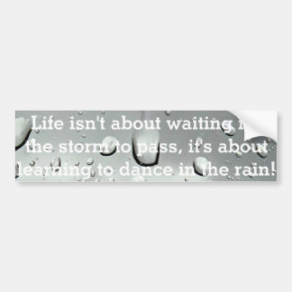 Raindrops Photography Bumper Sticker