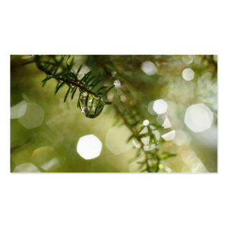 Raindrops - Pocket calendar Business Card
