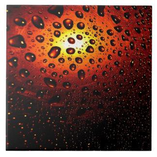 Raindrops Sunlight Bath Tile