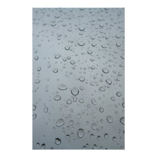 Raindrops, Water Drops, Rainy Window, Raining Stationery