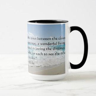 Rainer Maria Rilke Love Quote Coffee Mug