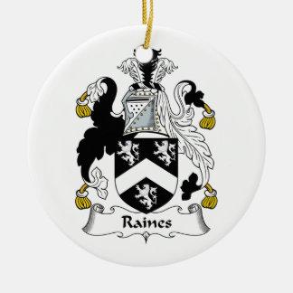 Raines Family Crest Christmas Tree Ornaments