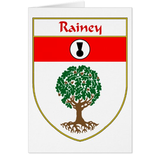 Rainey Coat of Arms/Family Crest Card