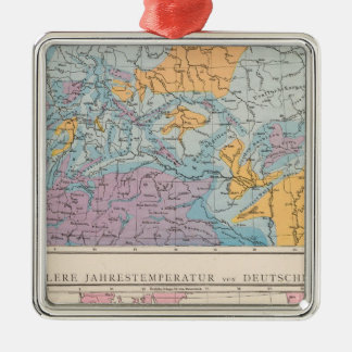 Rainfall map of Germany Metal Ornament