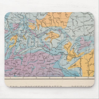 Rainfall map of Germany Mouse Pad