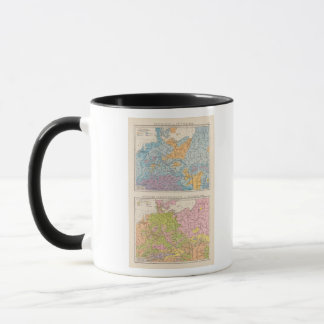 Rainfall map of Germany Mug