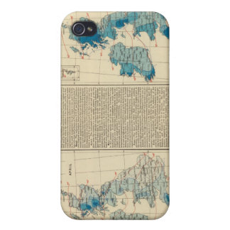 Rainfall, temperature, British Isles iPhone 4 Case