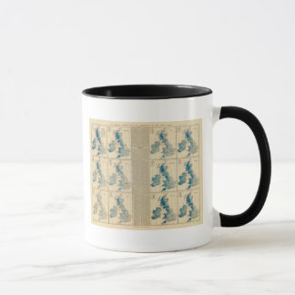 Rainfall, temperature, British Isles Mug