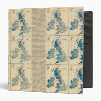 Rainfall, temperature, British Isles Vinyl Binders