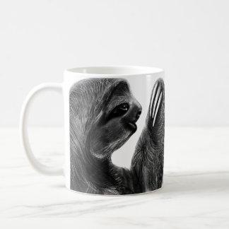 Rainforest Animal Charcoal Sloths Mirrored Coffee Mug