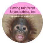 Rainforest Babies sticker