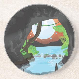 Rainforest Cave Drink Coaster