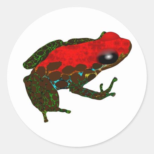 Rainforest Dart Frog Classic Round Sticker