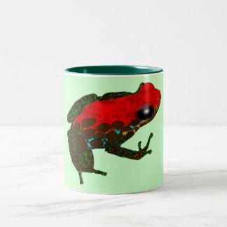 Rainforest Dart Frog Two-Tone Coffee Mug