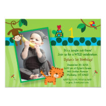 Rainforest Jungle Animal Birthday Invitations