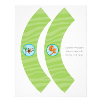 Rainforest Jungle Animal Cupcake Wrappers