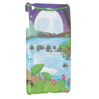 Rainforest jungle stream. iPad mini covers