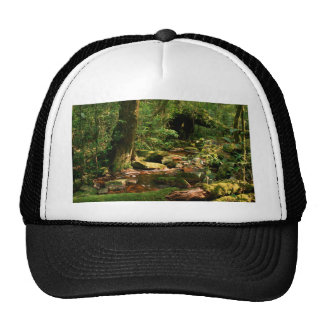 Rainforest Jungle Stream Landscape Trucker Hat