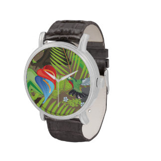 Rainforest jungle stream. watches