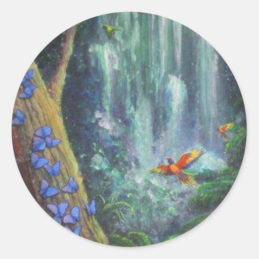 Rainforest Magic Classic Round Sticker
